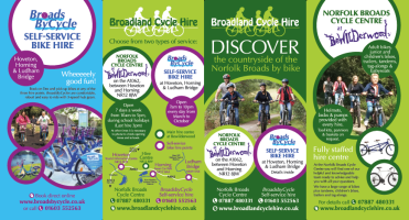 broadland cycle hire leaflet